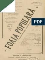 Foaia Populara, 06, Nr. 08, 15 Ian 1903_ Macheta Firme de Aluminium, Nichel Si Alama
