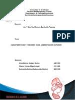 3 AD.S N#3 Caracteristicas y Funciones de La Administracion Superior