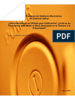 Gobierno Electronico en America Latina