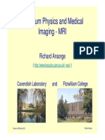 Physics of MRI