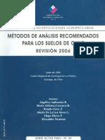 Métodos de Análisis Recomendados Para Los Suelos de Chile. Rev.2006