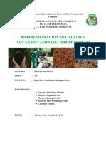 Biorremediacion de Suelo Agua Contaminado Por Petroleo