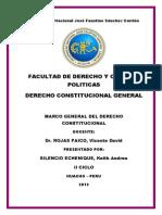 Cuestionario de Derecho Constitucional General II