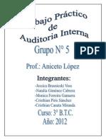 El Control Interno de Auditoria