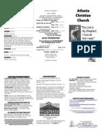 June 22, 2014 Trifold Bulletin