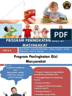 Program Peningkatan Gizi Di Masyarakat