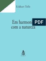 Eckhart Tolle Em Harmonia Com a Natureza
