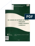 0 ensino de nutrição no Brasil - evolução, corpo docente e currículo