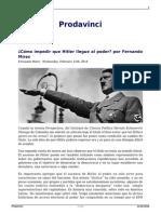 Como Impedir Que Hitler Llegue Al Poder Por Fernando Mires