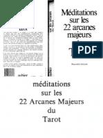 Meditations Sur Les 22 Arcanes Majeurs DuTarot  - Valentin Tomberg