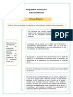 Analisis Del Programa de 1º,, Procesos de Alfabetizacion