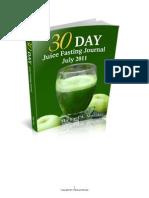 Juice Fasting Journal