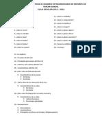 Guia de Estudios Para El Examen Extraudinario de Español de Tercer Grado