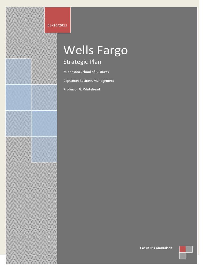 Wells Fargo Strategic Plan | Wells Fargo | Credit (Finance)