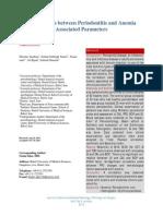 Anemia Periodontitis