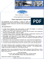Caribbean Career Opportunity - Cayman Island Water Authority - Plant Operator Cayman Brac Plant Operator (Overseas)