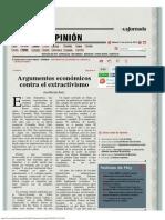 La Jornada_ Argumentos Económicos Contra El Extractivismo