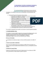 Estudio de La Seguridad Contra Incendios Desde El Punto de Vista de Las Licencias de Actividades