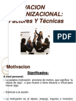 Clase 6 Motivacion Organizacional