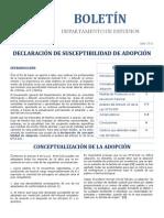 Boletin Declaración de Suceptiblidad de La Adopción