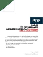 Uji Asumsi Klasik (Multikolenieritas) - Correlation