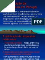 A Distribuição Da Temperatura Em Portugal