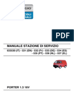 Workshop Manual - PORTER 1.3 16V - Workshop