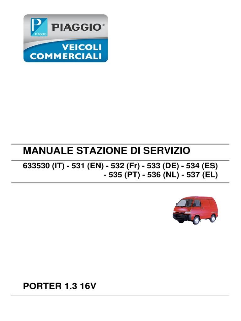 Workshop Manual - Porter 1 3 16v