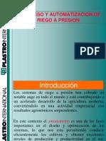 Fertiriego y Automatizacion de Sistemas de Riego a Presion.