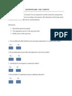 Questionnaire for Parents (3)