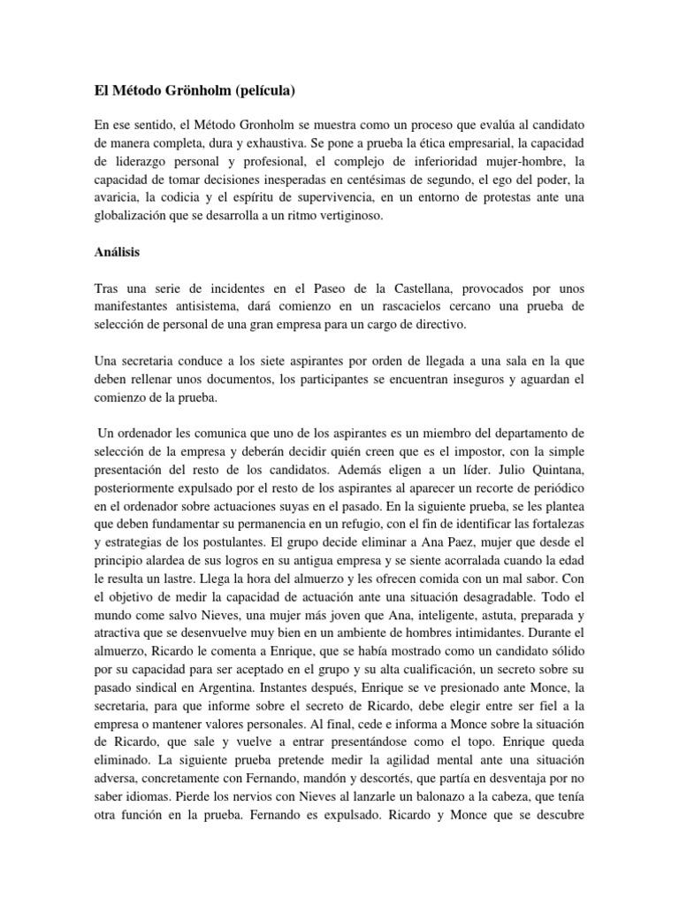 El metode gronholm pdf file