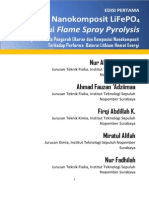 Buku Sintesis Nanokomposit LiFePO4 Melalui Flame Spray Pyrolysis