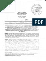 HR780 - Inquiry Into Human Trafficking in Yolanda-Stricken Areas & Rehabilitation of Affected