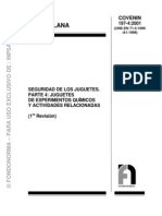 0197-4-2001 Seguridad Para Los Juguetes Parte 4 Juguetes de Experimentos Quimicos y Actividades Relacionadas