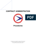 Contract Admin Procedures