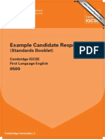 IGCSE 0500 First Language English Standards Booklet 2010