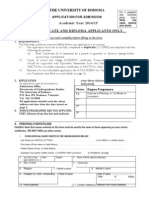 UDOM Application form for diploma and Certificate 2014-2015