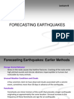 Lecture8 Forecasting Earthquakes