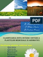 Clasificarea Plantelor Medicinale Si Aromatice