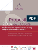Propositions  ANDRH 2014