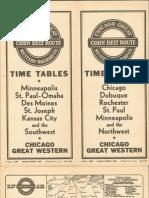 CGW Public Timetable Mar 01 1940