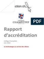 Rapport d'Accreditaion College Champittet 130614