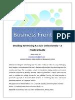 Deciding advertising rates in online media