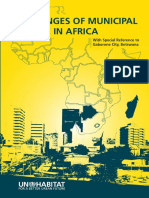 Challenges of Municipal Finance in Africa; With Special Reference to Gaborone City, Botswana