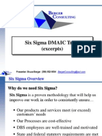 Berger Consulting 3.1b_Six Sigma DMAIC Training Overview Excerpts-3!19!09