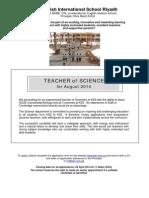Teacher - Science - Apr 14