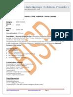 Microsoft Dynamics CRM-Technical
