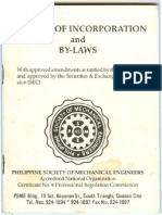 Philippine Society of Mechanical Engineers Articles of Incorporation and By-Laws