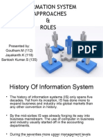 Information System Approaches & Roles