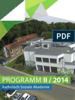 LWH Halbjahresprogramm II / 2014